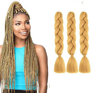 Synthetic Hair Extension - Pure Color Synthetic Braiding Hair For Women