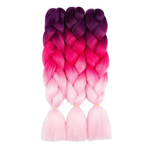 Synthetic Hair Extension - Synthetic Ombre Three Tone Color Braiding Hair Extension
