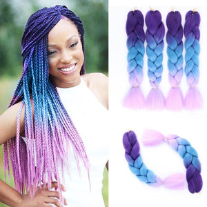 Synthetic Hair Extension - Twist Braiding Hair Extension Three Tone Color
