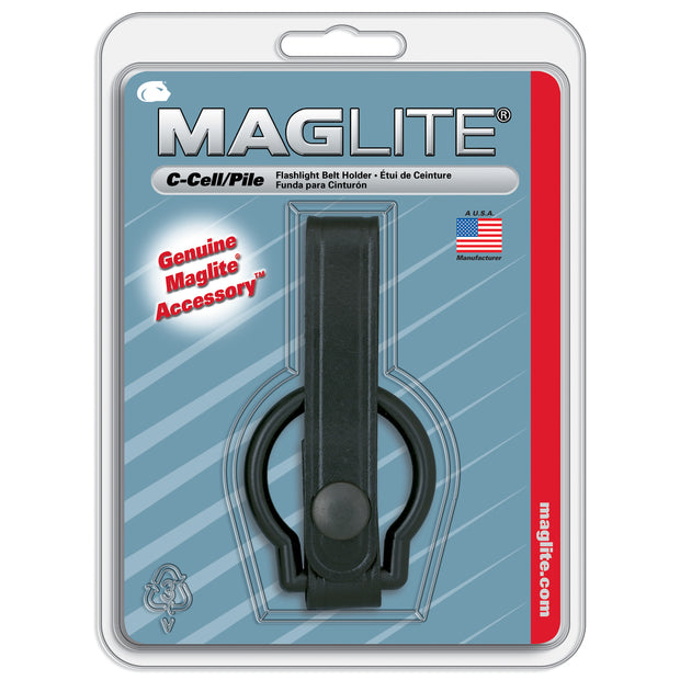 Plain Leather Belt Holder for Maglite® C-Cell Flashlights