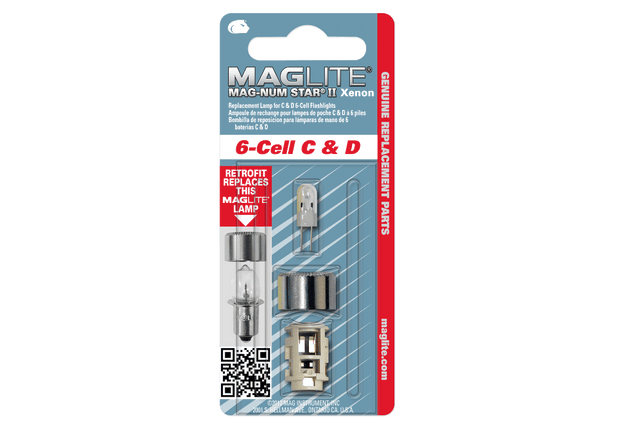 Replacement Lamp for Maglite® 6-Cell C & D Flashlight