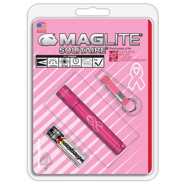 Maglite® Solitaire® Incandescent - National Breast Cancer Foundation® - MAGLITE® Europe Flashlights & Lifestyle
