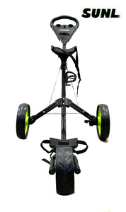 SUNL Light Weight Folding Golf Push Cart w/Wild Front Wheel | Cup Holder