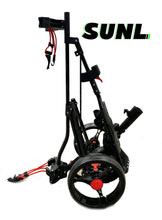 Load image into Gallery viewer, SUNL 3-Wheel Foldable Golf Push Cart Umbrella Holder | Cup Holder