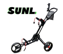 Load image into Gallery viewer, SUNL 3 Big Wheel Easy Fold | Control Heavy Duty Foldable Golf Push Cart