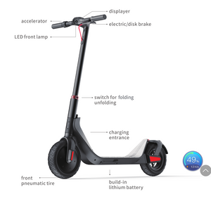 "SunL G-Max Electric Scooter - 10"" Tire 