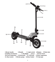 Load image into Gallery viewer, SunL G2 Pro Electric Scooter
