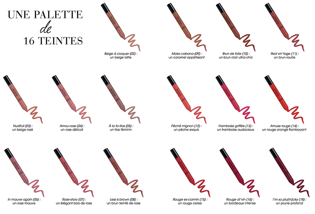 Velvet The Pencil - Une Palette de 16 Teintes