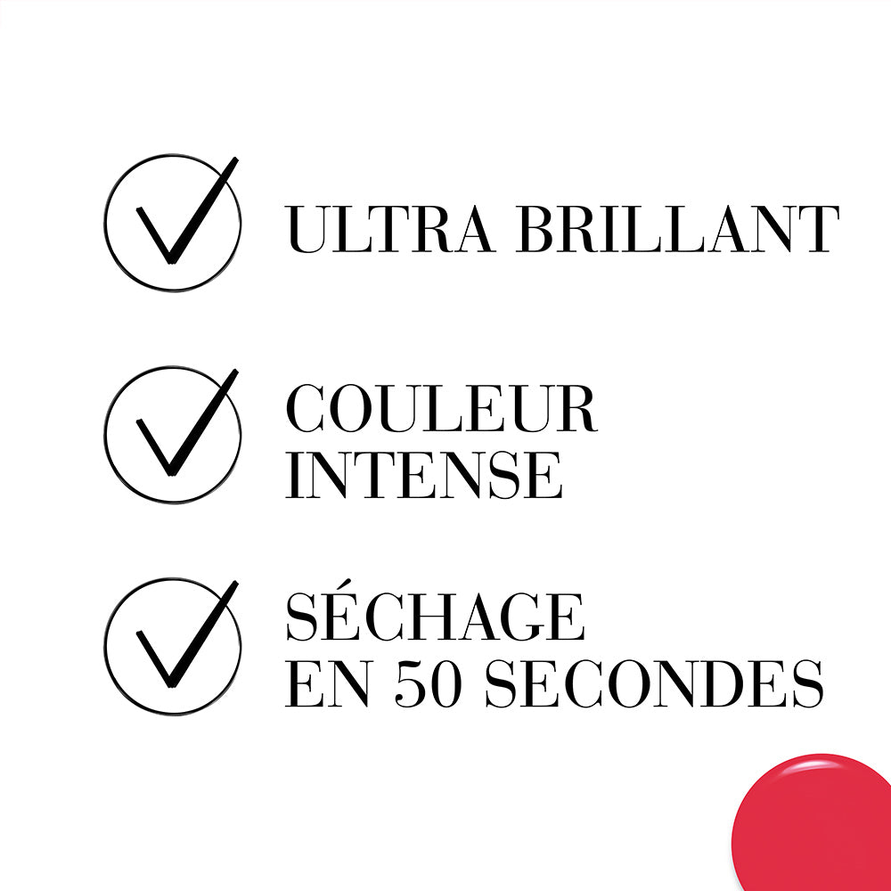 Vernis 1 seconde - 44 ROUGE DEFENDU