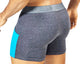 PPU 1307 Boxer with pockets Gray/Turquoise
