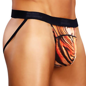 Male Power 389-169  Safari Jock W/ Piping