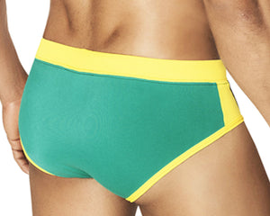 Clever 0579 Buzios Swimsuit Brief - -Yellow-Black
