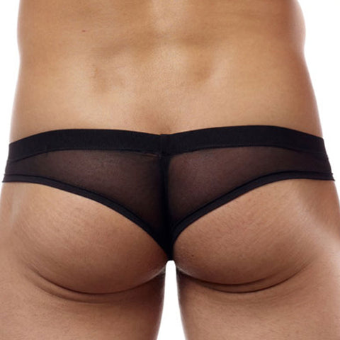 Cover Male CM222  Pouch Enhancing Cheeky Boxer Brief Sheer