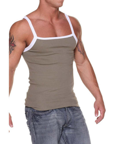 Nuwear JSSM07  Ribbed Square Cut Tank Top