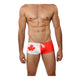 Mensuas MN8004 Canada Flag Swim Trunk