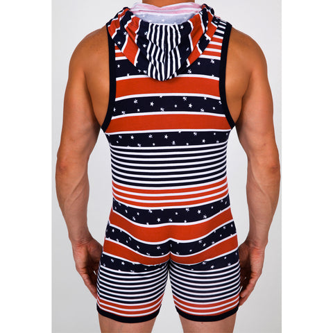 Pistol Pete PPBS401-213 AMERICA Sleeveless Hooded Bodysuit