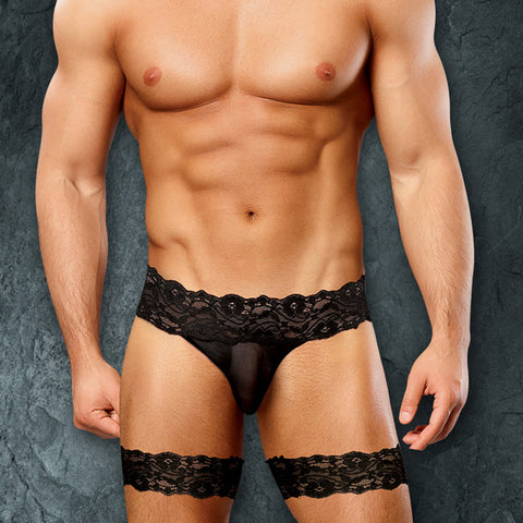 Male Power 177178 Scandal-Lace Micro Garter Short