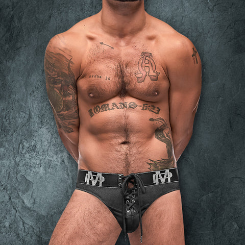 Male Power 430250  Ice Lace Up Thong