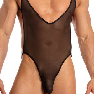Secret Male SMV002 Deep V Body Suit