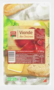 1CC - Belle France Grisons meat sliced - Viande des Grisons - 80 gr