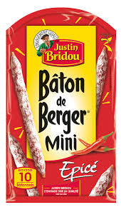 1CC - Justin Bridou Berger sticks spiced- bâtons de berger mini épicé 80 gr