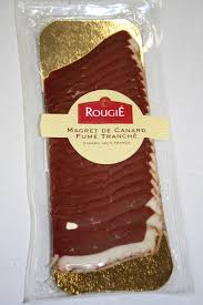 1CC - Rougié Smoked duck breast sliced - Magret de canard fumé tranché   - 90 gr