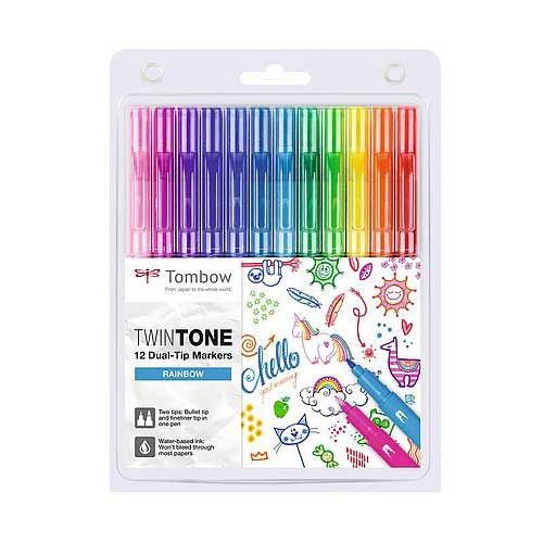 Set 12 Rotuladores Doble Punta TwinTone Rainbow