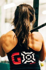 Ladies PRGNX Black GO Racer-back Singlet I Progenex Australia CrossFit Apparel