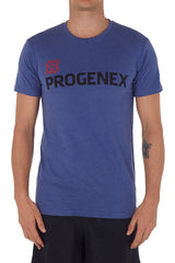 Men's Heather Blue Progenex Icon Tee I CrossFit Apparel Progenex Australia
