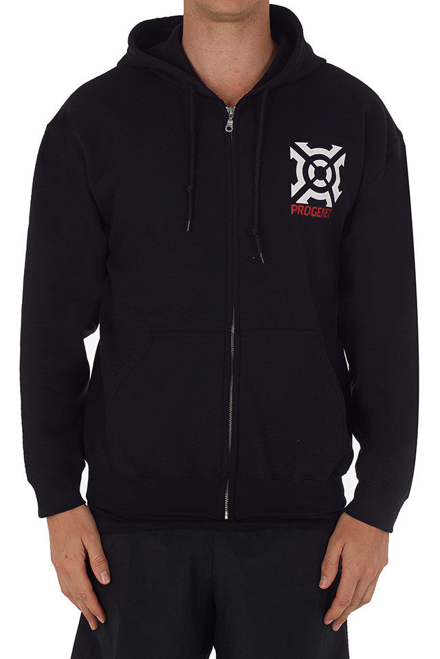 Men's and Ladies Progenex Black Hoodie - CrossFit Apparel Australia