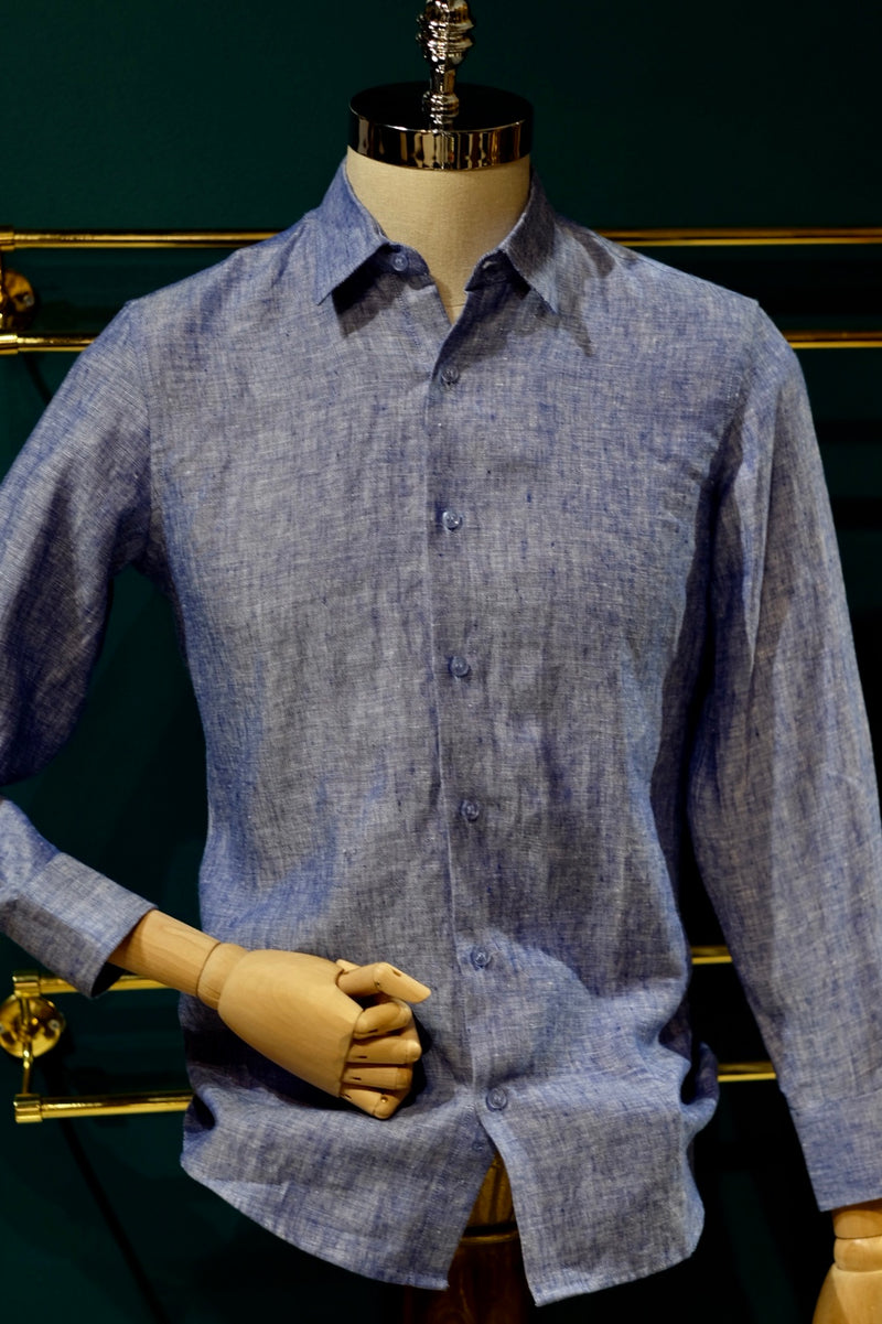 Khirzad, Perth Mens Boutique, Safari Linen Button Up Shirt, Cool Water