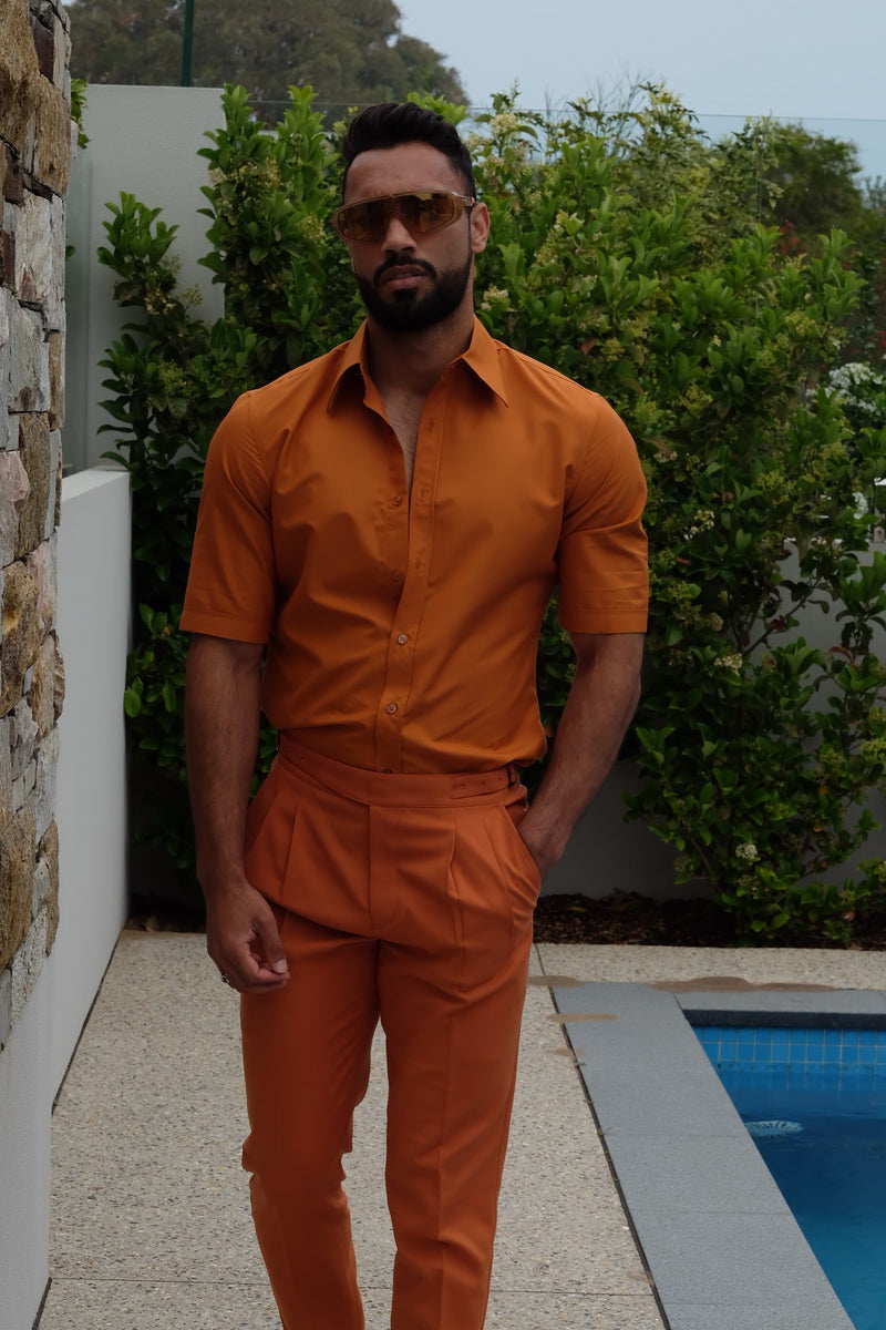 Ghurka trousers burnt orange