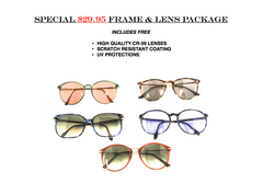 "Special - $29.95 Single Vision ""Frame & Lens"" Package"