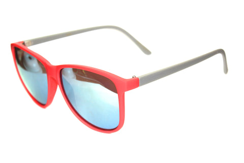 Desert Fox - Grey/Red Matte Mirrored Sunglasses