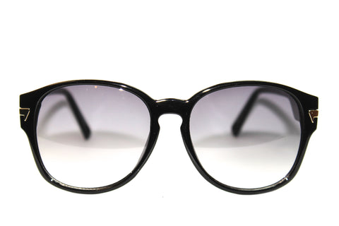 Oversized Women's Sunglasses in Shiny Black