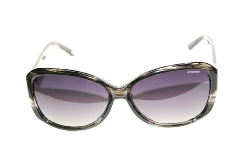 grey tortoise havana oversized polarized sunglasses 59mm front view