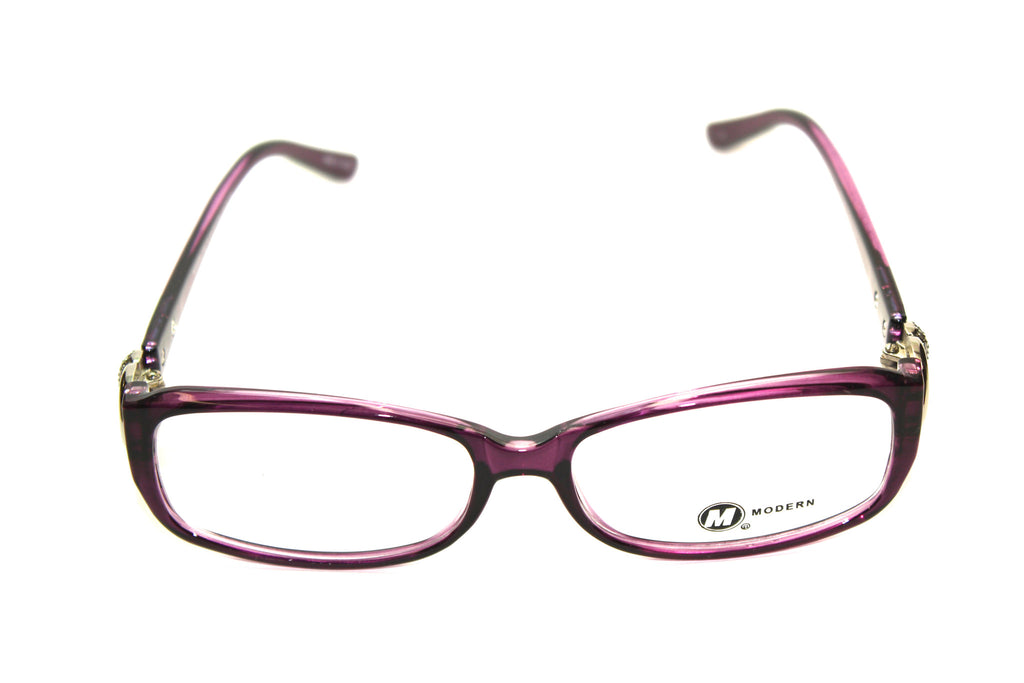 Modern Optical Dee Plum/Crystal (54mm) Eyeglasses