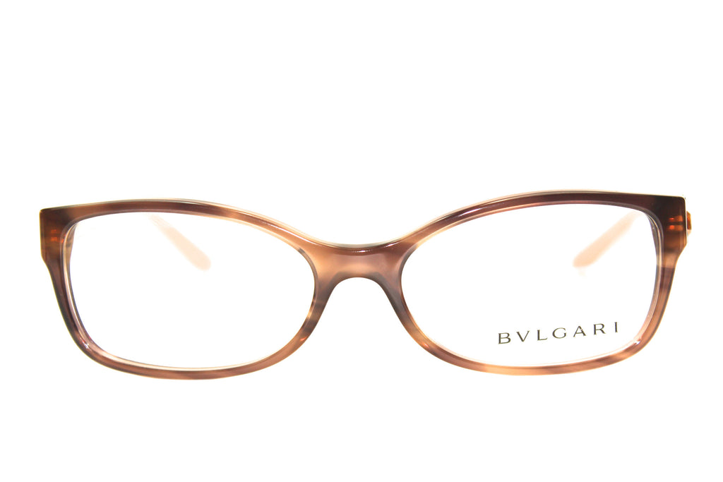 BVLGARI  - BV 4069B 5240 Striped Brown Eyeglasses