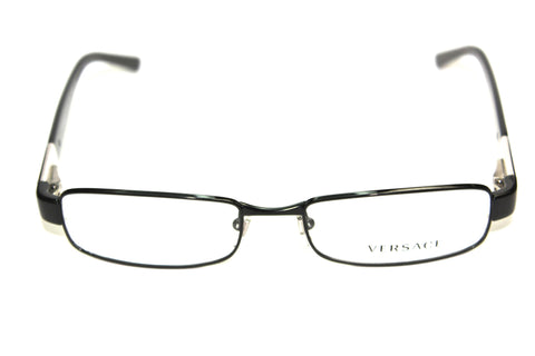 Prescription Eyeglasses Versace 1121 1009 Black 53mm front view