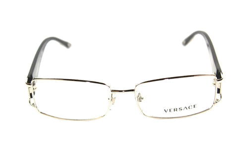 Versace 1163-B 1332 52mm Black Prescription Eyeglasses black silver front view