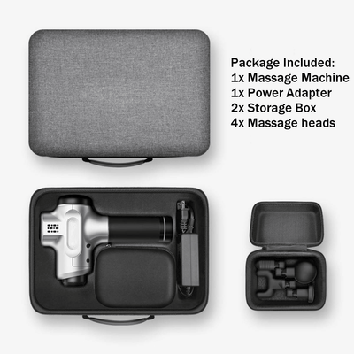 Included accessories with six speed massage gun