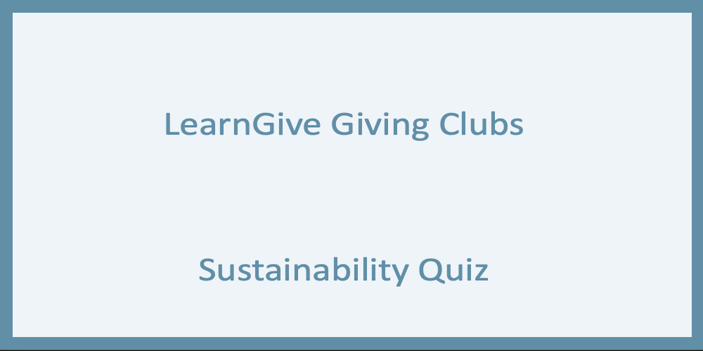 Sustainability Quiz