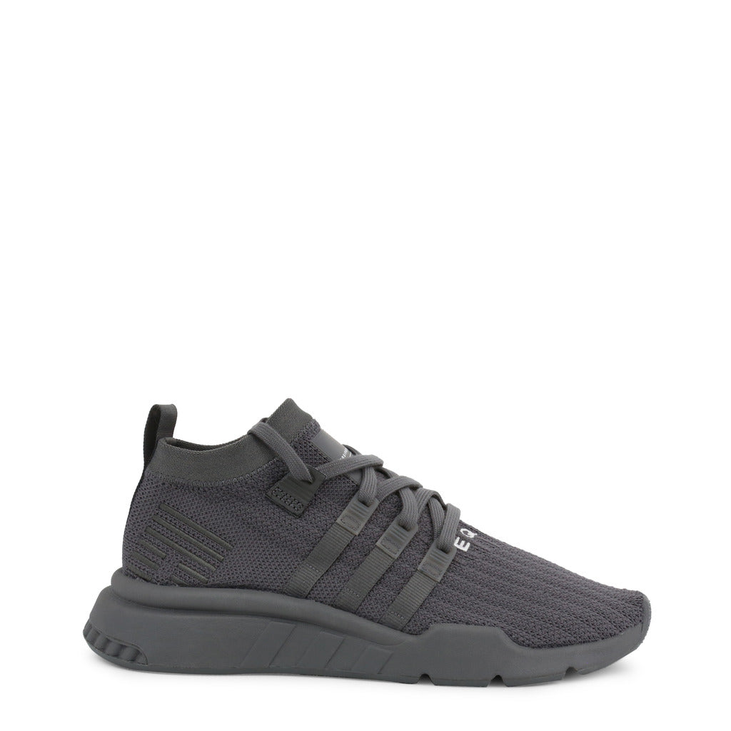 A black Adidas Originals Trainers Shoes by the name EQT Support ADV