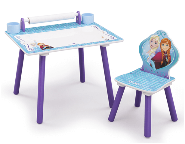DISNEY FROZEN ART DESK WITH PAPER ROLL