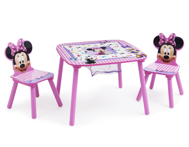 DISNEY MINNIE MOUSE TABLE & CHAIR SET