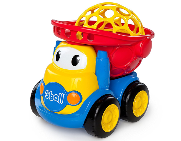 BRIGHT STARTS O BALL GO GRIPPERS DUMP TRUCK