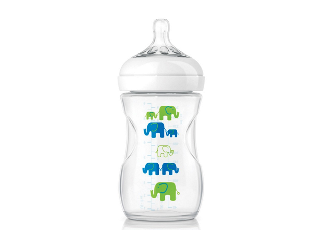 Avent Natural Deco Bottle 260 ML PK1 (Green)
