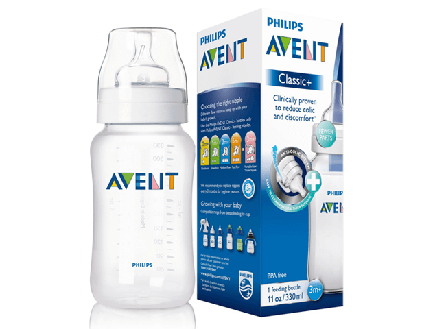 Avent Classic Plus PP Bottle 330ml PK1