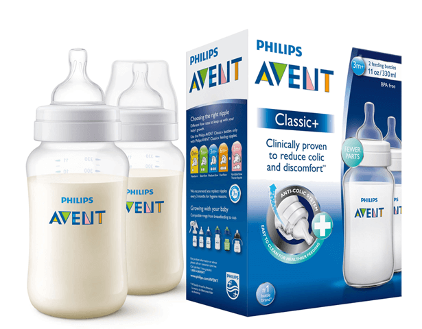 Avent Classic Plus PP Bottle 330ml PK2
