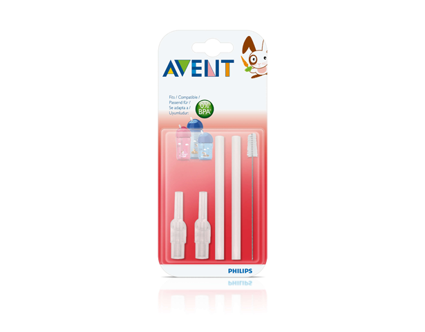Avent Straw Replacement Set 12M+
